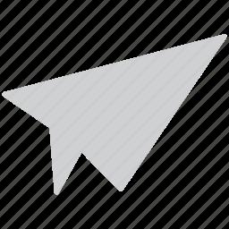 air message, paper jet, paper plane, plane icon