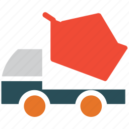 dump, garbage lifter, trash truck, truck icon