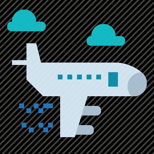airplane, globe, plane, travel, world icon