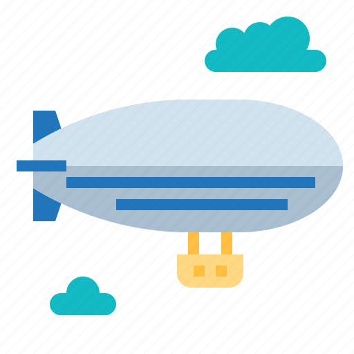 Hot, zeppelins, ship, air icon