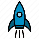 fly, launch, rocket, space, spaceship, spaceshuttle icon