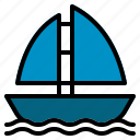 sail, sailboat, sea, ship, sport, transport, transportation icon
