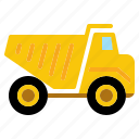 construction, dump, heavy, transport, transportation, truck, vehicle icon