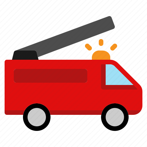 emergency, fire, rescue, transport, transportation, truck, vehicle icon