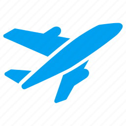 air plane, aircraft, airplane, airport, departure, transportation, vehicle icon