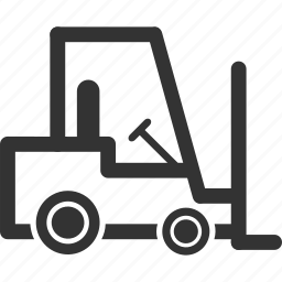 fork lift truck, forklift, loader, logistic, transport, transportation, warehouse vehicle icon