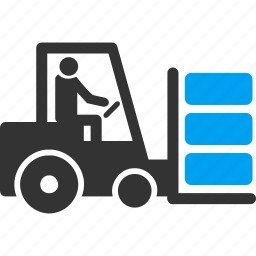 fork lift truck, forklift, loader, logistic, transport, transportation, warehouse vehicle icon