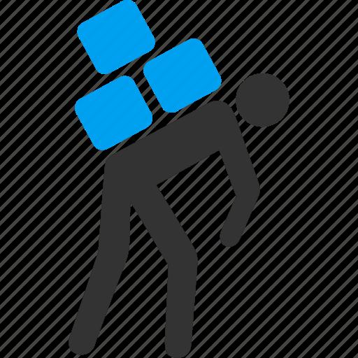 courier, deliver, job, loader, porter, transportation, work icon