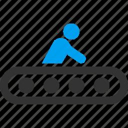 conveyor, escalator, movement, passenger, traffic, transport, transportation icon