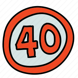 hour, miles, road, speed, transportation icon
