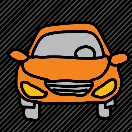car, front, transportation, vehicle icon