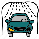 car, shower, transportation, vehicle, wash icon