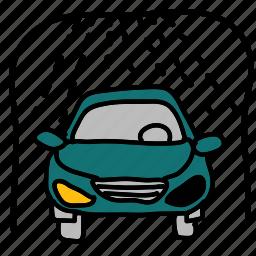 car, shower, transportation, vehicle, wash icon