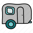 camping, carivan, transportation, trip icon