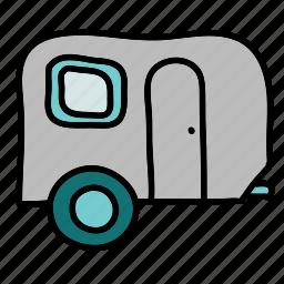camping, carivan, transportation, trip icon