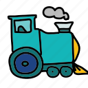 locomotive, smoke, train, transport, transportation icon