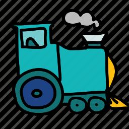 locomotive, smoke, train, transport, transportation icon