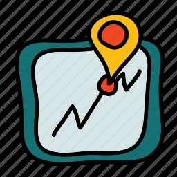 direction, map, navigation, transportation, vehicle icon