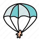 activity, hobby, parachute, sport, transportation icon