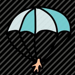 activity, hobby, parachute, sport, transportation icon