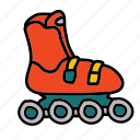 activity, hobby, rollerskates, skate, transportation icon