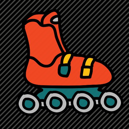 activity, hobby, rollerskates, skate, transportation icon