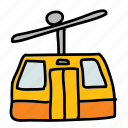 doors, mountain, skilift, transport, transportation icon