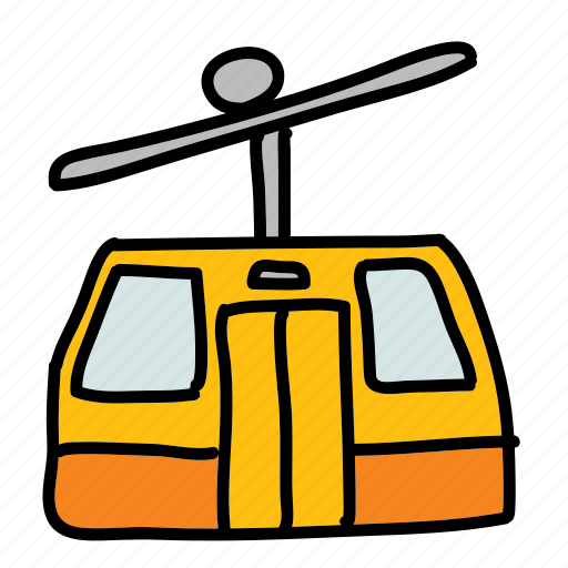 doors, mountain, skilift, transport, transportation icon