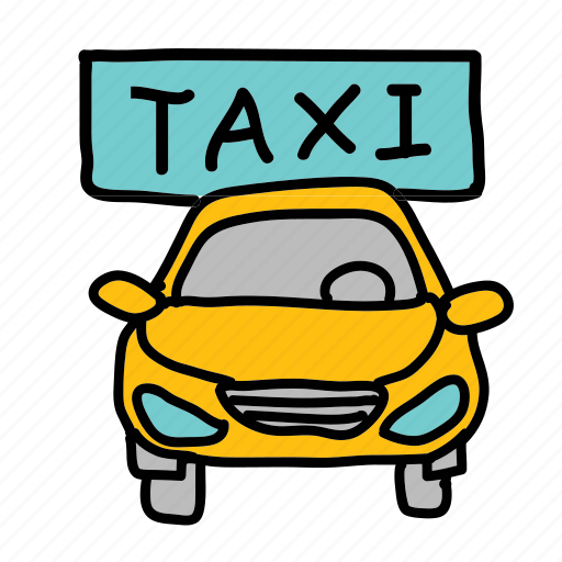 car, front, sign, taxi, transportation, vehicle icon
