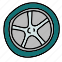 tire, transport, transportation, vehicle, wheel icon