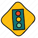 lights, road, sign, street, traffic, transportation icon