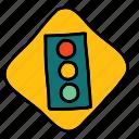 lights, road, sign, street, traffic, transportation