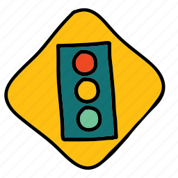 lights, road, sign, street, traffic, transportation icon