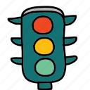 lights, road, street, traffic, transportation icon