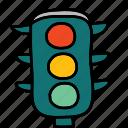 lights, road, street, traffic, transportation