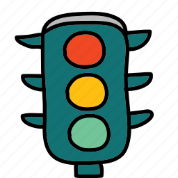 lights, road, street, traffic, transportation icon