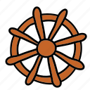 boat, ship, steer, transportation, wheel icon
