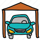 car, house, parking, transportation icon