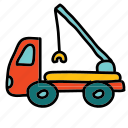 cargo, lifting, transportation, truck icon