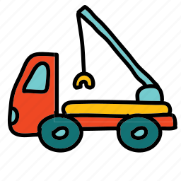 cargo, lifting, transportation, truck icon