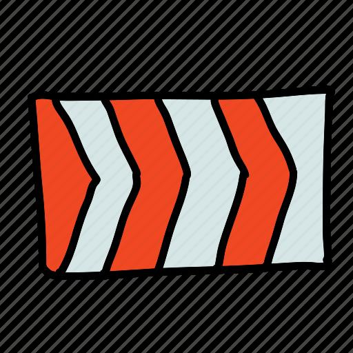 caution, direction, indicator, road, safety, street, transportation icon