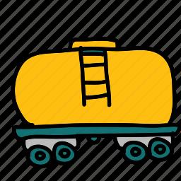 cargo, gas, transportation icon