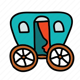 carivan, carrige, gypsy, transportation icon