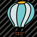 air, balloon, hot, transportation icon