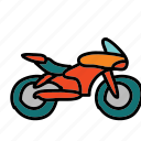 bike, motor, motorcycle, ride, speed, transportation icon