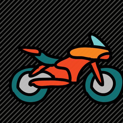 bike, motor, motorcycle, ride, speed, transportation icon