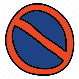 no, parking, road, sign, street, transportation icon