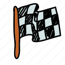 flag, race, transportation icon