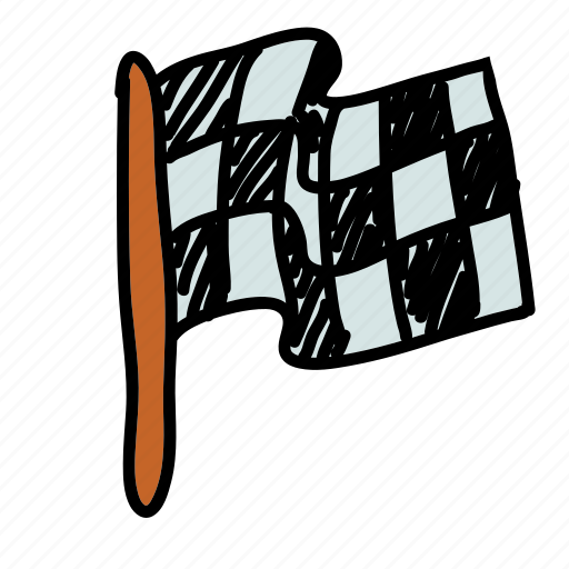 flag, race, transportation icon