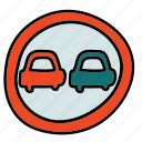 first, goes, right, road, sign, street, transportation icon